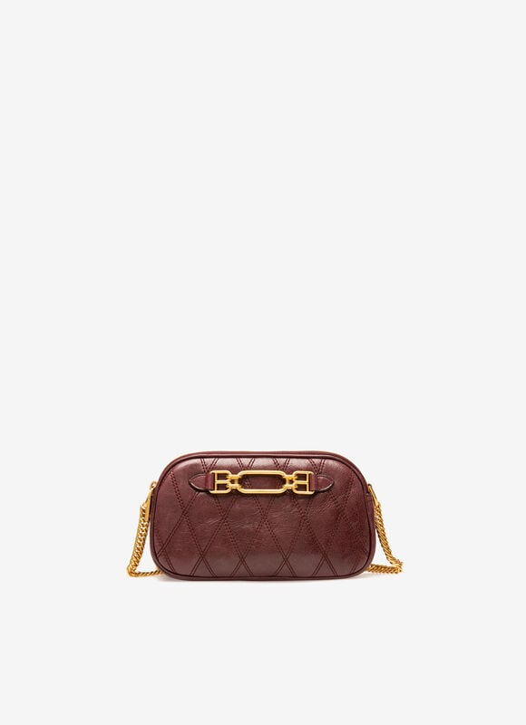 BURGUNDY BOVINE Mini and Belt Bags - Bally