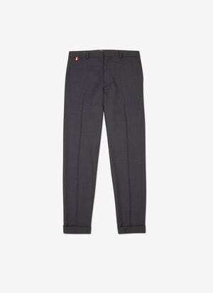BLUE MIX WOOL Pants - Bally
