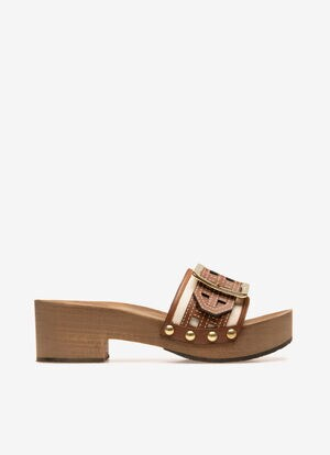NEUTRAL COTTON Sandals - Bally