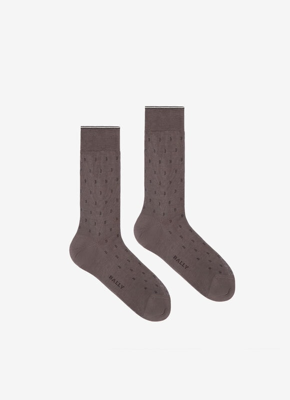 GREY COTTON Socks - Bally