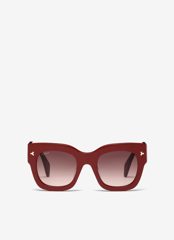 RED PLASTIC Eyewear - Bally