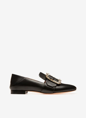 BLACK LAMB Flats - Bally