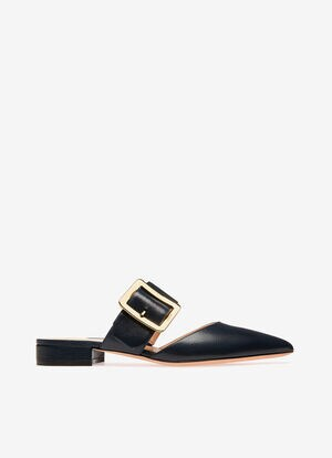 NAVY GOAT Flats - Bally