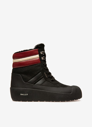 ブラック CALF Snow Boots - Bally